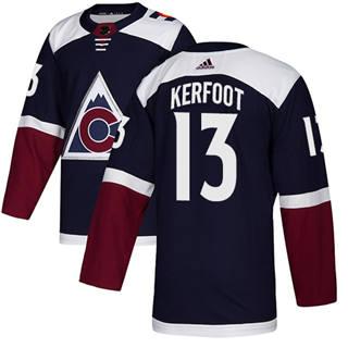 Men's  Colorado Avalanche #13 Alexander Kerfoot Navy Alternate  Stitched Hockey Jersey