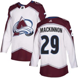 Men's  Colorado Avalanche #29 Nathan MacKinnon White Road  Stitched Hockey Jersey