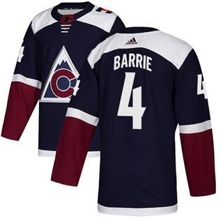 Men's  Colorado Avalanche #4 Tyson Barrie Navy Alternate  Stitched Hockey Jersey