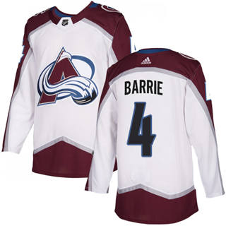 Men's  Colorado Avalanche #4 Tyson Barrie White Road  Stitched Hockey Jersey