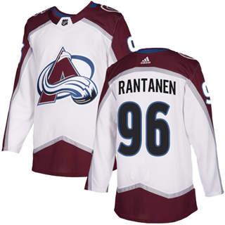 Men's  Colorado Avalanche #96 Mikko Rantanen White Road  Stitched Hockey Jersey