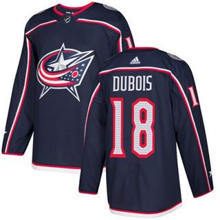 Men's  Columbus Blue Jackets #18 Pierre-Luc Dubois Navy Blue Home  Stitched Hockey Jersey