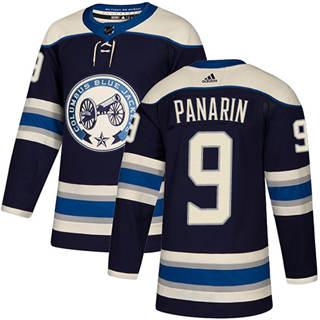 Men's  Columbus Blue Jackets #9 Artemi Panarin Navy Alternate  Stitched Hockey Jersey