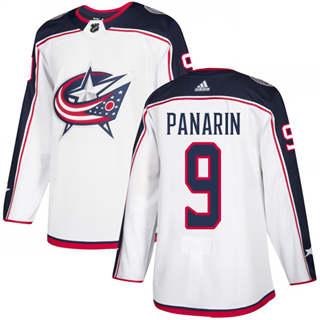 Men's  Columbus Blue Jackets #9 Artemi Panarin White Road  Stitched Hockey Jersey