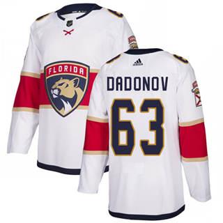 Men's  Florida Panthers #63 Evgenii Dadonov White Road  Stitched Hockey Jersey