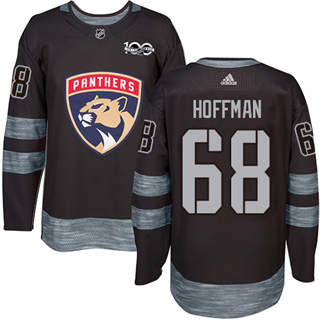 Men's  Florida Panthers #68 Mike Hoffman Black 1917-2017 100th Anniversary Stitched Hockey Jersey