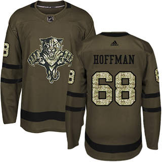Men's  Florida Panthers #68 Mike Hoffman Green Salute to Service Stitched Hockey Jersey