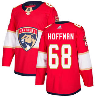 Men's  Florida Panthers #68 Mike Hoffman Red Home  Stitched Hockey Jersey