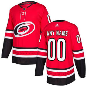 Men's  Hurricanes Personalized  Red Home Hockey Jersey