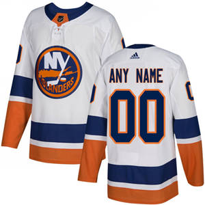 Men's  Islanders Personalized  White Road Hockey Jersey