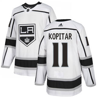 Men's  Los Angeles Kings #11 Anze Kopitar White Road  Stitched Hockey Jersey