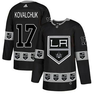 Men's  Los Angeles Kings #17 Ilya Kovalchuk Black  Team Logo Fashion Stitched Hockey Jersey