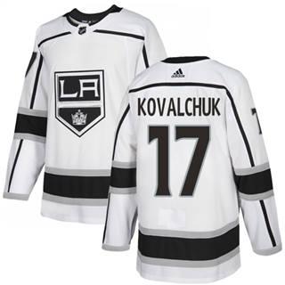 Men's  Los Angeles Kings #17 Ilya Kovalchuk White Road  Stitched Hockey Jersey