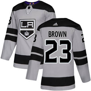 Men's  Los Angeles Kings #23 Dustin Brown Gray Alternate  Stitched Hockey Jersey