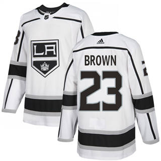 Men's  Los Angeles Kings #23 Dustin Brown White Road  Stitched Hockey Jersey