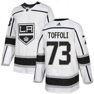 Men's  Los Angeles Kings #73 Tyler Toffoli White Road  Stitched Hockey Jersey