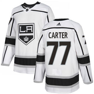 Men's  Los Angeles Kings #77 Jeff Carter White Road  Stitched Hockey Jersey