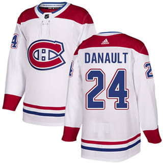 Men's  Montreal Canadiens #24 Phillip Danault White Road  Stitched Hockey Jersey