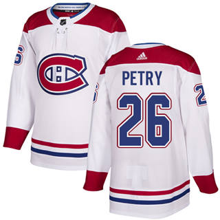 Men's  Montreal Canadiens #26 Jeff Petry White Road  Stitched Hockey Jersey