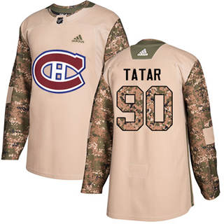 Men's  Montreal Canadiens #90 Tomas Tatar Camo  2017 Veterans Day Stitched Hockey Jersey