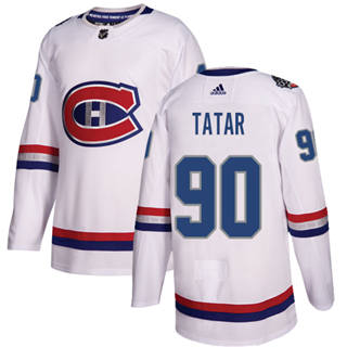 Men's  Montreal Canadiens #90 Tomas Tatar White  2017 100 Classic Stitched Hockey Jersey