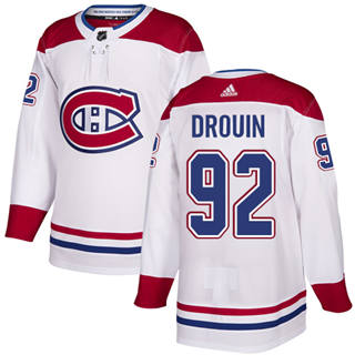 Men's  Montreal Canadiens #92 Jonathan Drouin White  Stitched Hockey Jersey