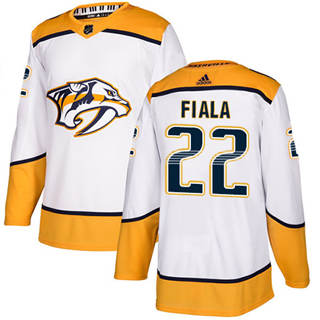 Men's  Nashville Predators #22 Kevin Fiala White Road  Stitched Hockey Jersey