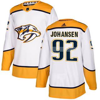 Men's  Nashville Predators #92 Ryan Johansen White Road  Stitched Hockey Jersey