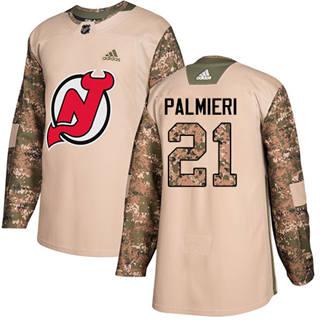 Men's  New Jersey Devils #21 Kyle Palmieri Camo  2017 Veterans Day Stitched Hockey Jersey