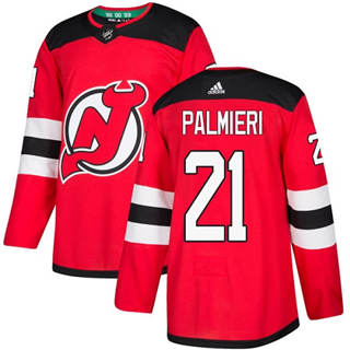 Men's  New Jersey Devils #21 Kyle Palmieri Red Home  Stitched Hockey Jersey