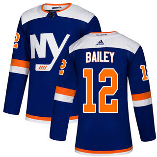 Men's  New York Islanders #12 Josh Bailey Blue Alternate  Stitched Hockey Jersey