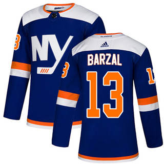 Men's  New York Islanders #13 Mathew Barzal Blue Alternate  Stitched Hockey Jersey