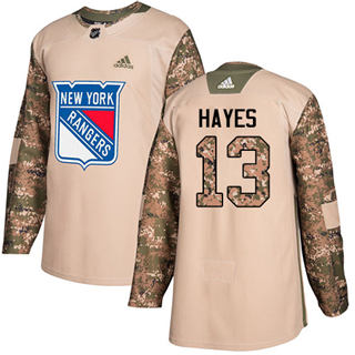 Men's  New York Rangers #13 Kevin Hayes Camo  2017 Veterans Day Stitched Hockey Jersey