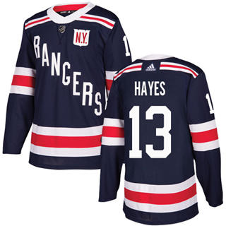 Men's  New York Rangers #13 Kevin Hayes Navy Blue  2018 Winter Classic Stitched Hockey Jersey