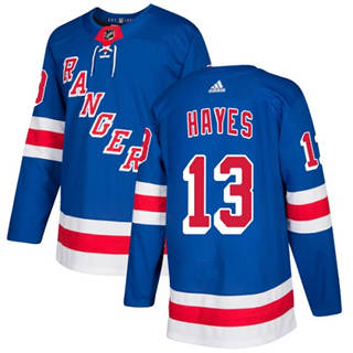 Men's  New York Rangers #13 Kevin Hayes Royal Blue Home  Stitched Hockey Jersey