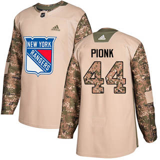 Men's  New York Rangers #44 Neal Pionk Camo  2017 Veterans Day Stitched Hockey Jersey