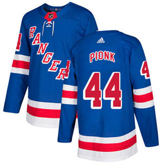 Men's  New York Rangers #44 Neal Pionk Royal Blue Home  Stitched Hockey Jersey