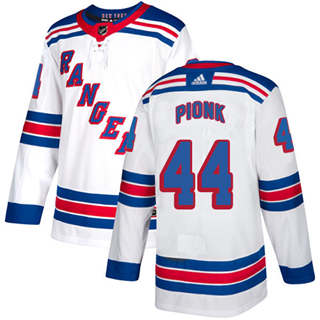 Men's  New York Rangers #44 Neal Pionk White Road  Stitched Hockey Jersey