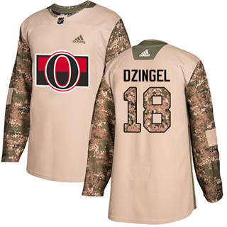 Men's  Ottawa Senators #18 Ryan Dzingel Camo  2017 Veterans Day Stitched Hockey Jersey