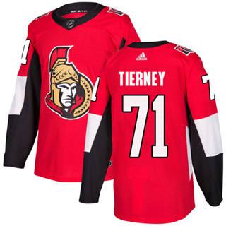 Men's  Ottawa Senators #71 Chris Tierney Red Home  Stitched Hockey Jersey