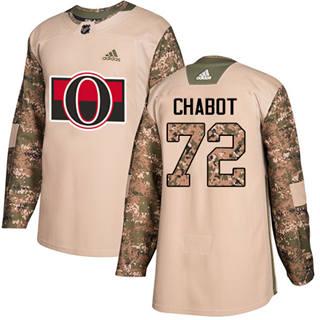 Men's  Ottawa Senators #72 Thomas Chabot Camo  2017 Veterans Day Stitched Hockey Jersey