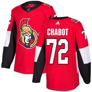 Men's  Ottawa Senators #72 Thomas Chabot Red Home  Stitched Hockey Jersey