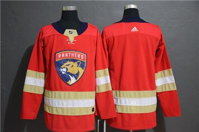 Men's  Panthers Blank Red Stitched Hockey Hockey Jersey