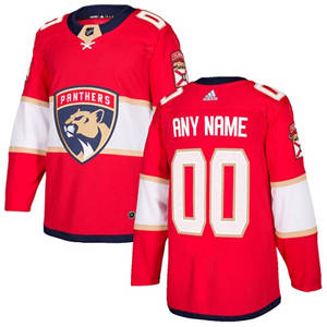 Men's  Panthers Personalized  Red Home Hockey Jersey
