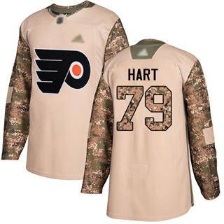 Men's  Philadelphia Flyers #79 Carter Hart Camo  2017 Veterans Day Stitched Hockey Jersey