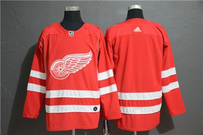 Men's  Red Wings Blank Red Stitched Hockey Hockey Jersey