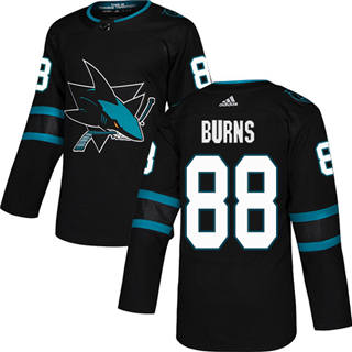 Men's  San Jose Sharks #88 Brent Burns Black Alternate  Stitched Hockey Jersey