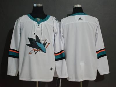 Men's  Sharks Blank White Stitched Hockey Hockey Jersey