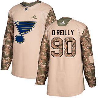 Men's  St. Louis Blues #90 Ryan O'Reilly Camo  2017 Veterans Day Stitched Hockey Jersey