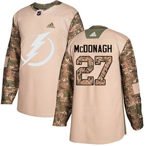 Men's  Tampa Bay Lightning #27 Ryan McDonagh Camo  2017 Veterans Day Stitched Hockey Jersey